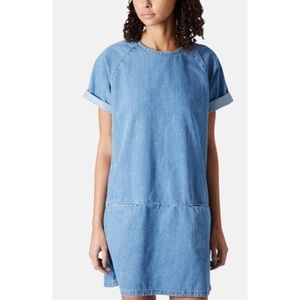 Topshop MOTO | Blue Denim/Chambray Shift Dress